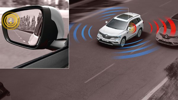 koleos blind spot detection